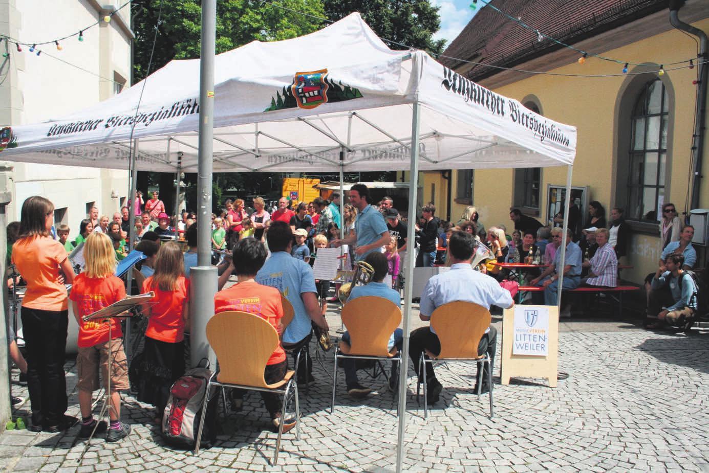 Der Musikverein Littenweiler wird auch beim diesjährigen Dorfplatzfest zur Unterhaltung aufspielen Foto: Gisela Heizler-Ries