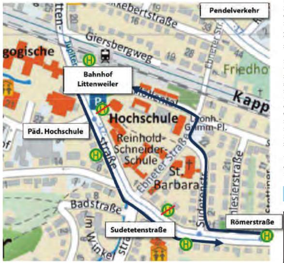 Plan Bahnübergang Lindenmattenstraße - Baustelle 2018